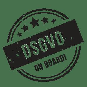 Logo mit der Aussage DSGVO on board im Telemarketing